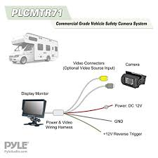 pyle plcmtr71 weatherproof rearview backup camera system kit with