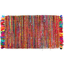 College Dorm Rugs Bright Colorful Decorative Chindi Bohemian Boho Rag Rug 2 X 3 Ft