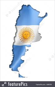 Argentina Flag Photo Argentinian Flag Map Illustration