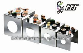 cube shaped food safety standard stainless steel display stand