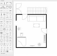 floor plan couch draw io floorplan stencils draw io