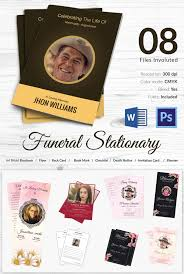 funeral stationary 5 funeral stationary templates free word pdf psd documents