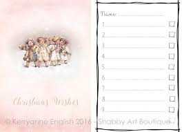 wish list diy christmas wish list and folder shabby boutique