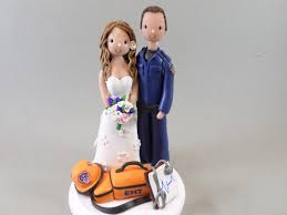 Ideas For Ems Groom Personalized Emt Wedding Cake Topper By Mudcards On