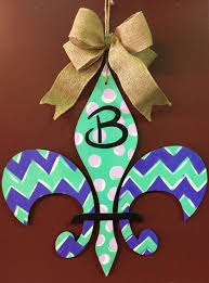 custom door hanger fleur de lis sun feb 26 6pm at pinot s