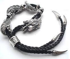 dragon bracelet silver images Dragon bracelet silver leather bracelet for men handmade tibetan jpg