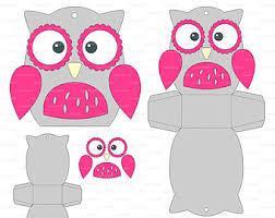owl box template etsy