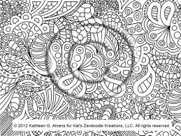 coloring page hand drawn zentangle inspired psychedelic 562501
