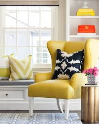 Yellow Upholstered Chairs Design Ideas Yellow And White Chair Regarding Really Encourage Upholstered