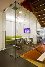 simple office room design with transparent partition image small t
