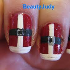 santa suit nails tutorial beautyjudy