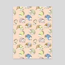 hedgehog wrapping paper hedgehog pattern an canvas by koo inprnt
