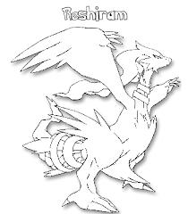 coloriage de pokemon reshiram