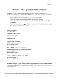 Sample Legal Demand Letter by Download Sample Qualified Written Request Docshare Tips