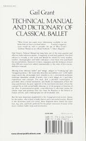 technical manual and dictionary of classical ballet dover books