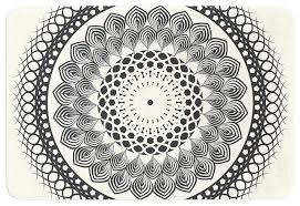 Striped Bathroom Rugs New Black And White Bathroom Rugs For Black And White Mandala