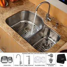 kitchen sink and faucet combo kraus kbu23 kpf2160 sd20 kitchen combo by zigsby s kitchen