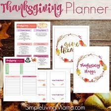thanksgiving planner printables simple living