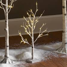battery operated white birch tree 2 foot 24 warm white led s