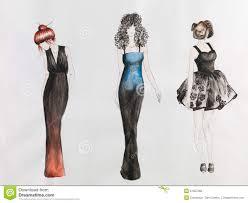 fashion sketch stock illustration image 51357260