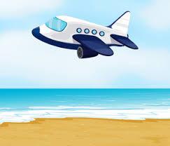 illustration airplane landing nature royalty free stock