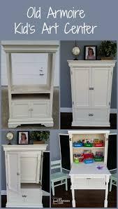 armoire for kids kids art desk repurposed armoire my repurposed life