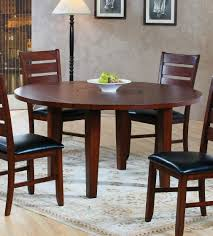 60 In Round Dining Table Homelegance 586 60 Ameillia Dark Oak Lazy Susan Dining Table