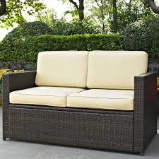Patio Furniture Wicker - furniture wicker loveseat with tray for cozy patio furniture ideas