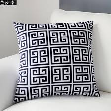 black patterned cushions h3140 new vintage black white geometric patterned cushion cover soft