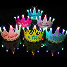 party supply wholesale wholesale birthday party princess crown led light hat
