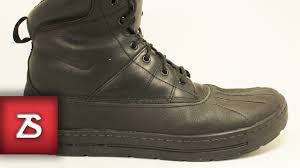 nike acg woodside review on foot duck boot youtube