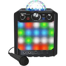 ion bluetooth speaker with lights ion party rocker express bluetooth speaker with light show and
