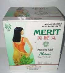 Jamu Pelangsing Merit buy merit slimming pills for 1 box 10 sachet
