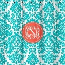 Monogram Shower Curtains Embroidered Shower Curtain Foter