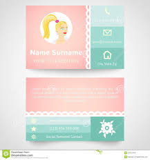 retro business card set template with flat user stock images