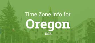 Oregon Time Zone Map by Time Zones In Oregon United States