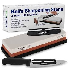 trupoint chefs whetstone knife sharpener and angle guide for the