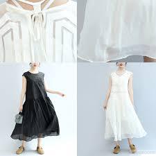 sun dress summer white cotton sundress plus size women dresses large hem maxi dress5 2 jpg