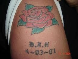 writing rip david j nichols tattoo