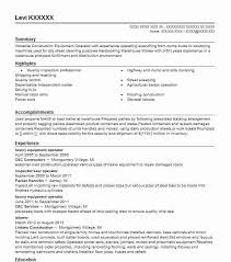 911 Dispatcher Resume Machine Operator Resume Heavy Equipment Operator Resume Example