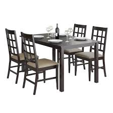 corliving drg 795 z6 atwood 5 piece dining set with taupe stone