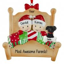 awesome parents bed with ornament personalized