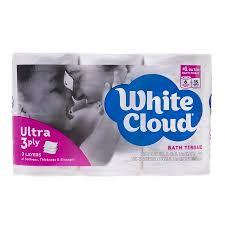 White Cloud Bathroom Tissue - white cloud ultra soft u0026 thick bath tissue 6 rolls walmart com