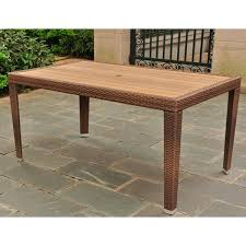 Resin Wood Outdoor Furniture by International Caravan Resin Wicker Aluminum Outdoor Table Free
