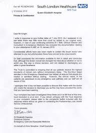 Complaints Letter To Hospital hospital letter city espora co