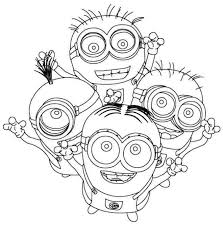 16 minions coloring images coloring