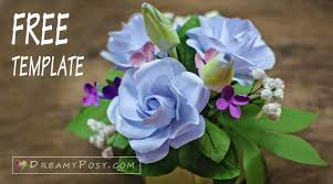 free flowers how to make gardenia paper flower and foliage free template