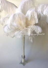 eiffel tower vase centerpieces 10pc white ostrich feathers used for wedding prom eiffel tower