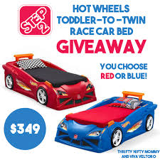 Step2 Corvette Bed Win A Step2 Wheels Toddler To Twin Race Car Bed Thrifty