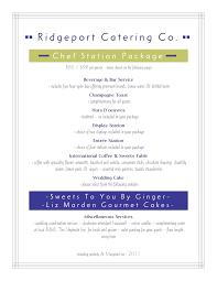 sample catering menu templates template examples
